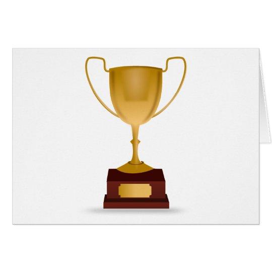 Trophäe - GoldCup-Preis - Sieger, am besten, No.1 Karte
