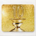 Trophée du numéro 10 d'or tapis de souris