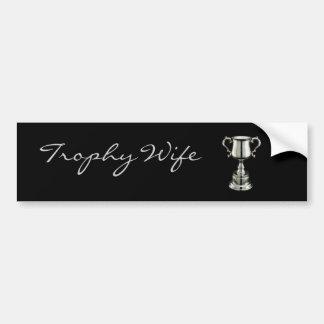 trophy1, Trophäe-           Ehefrau Autoaufkleber