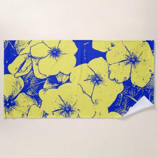 Tropische abstrakte Blumen Strandtuch