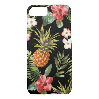 Tropische Ananas-Hibiskus-Blumen iphone Abdeckung iPhone 7 Hülle