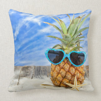 tropische Ananas mit Sonnenbrille Kissen