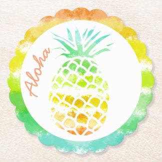Tropische Ananas-Papier-Untersetzer Untersetzer