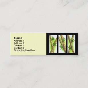 Tropische Bambusmalerei   Multi Mini Visitenkarte
