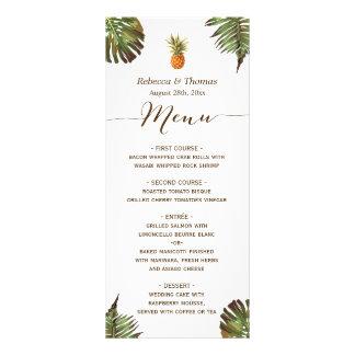 Tropische Blätter-Ananas Luau redete Werbekarte