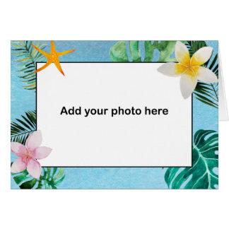Tropische Blätter-Blumen danken Ihnen kleines Mitteilungskarte