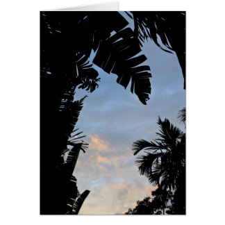 Tropische Blätter-Silhouetten Karte