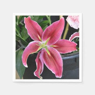 Tropische Blume Serviette