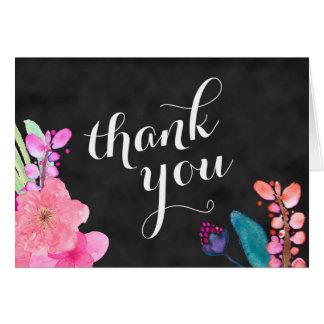 tropische Blumen danken Ihnen 12x18, Luau danken Karte