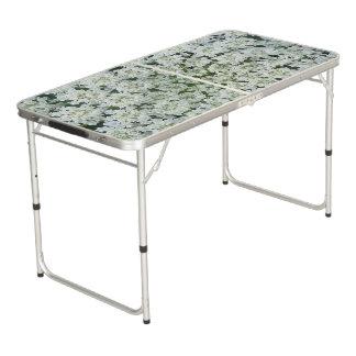 Tropische Blumen-Heckklappen-Größe Pong Tabelle Beer Pong Tisch