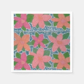 Tropische Blumen-Papierservietten Serviette
