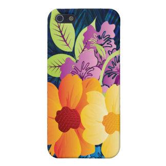 Tropische Blumen u. Reben iPhone 5 Etuis