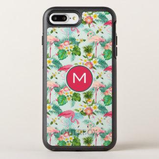 Tropische Blumen und Vögel   addieren Ihre OtterBox Symmetry iPhone 8 Plus/7 Plus Hülle