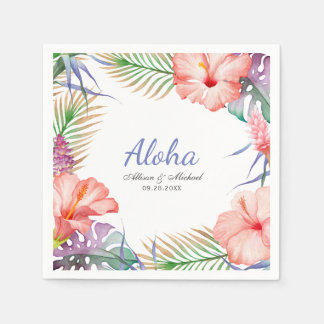 Tropische BlumenAloha Luau Art Papierserviette