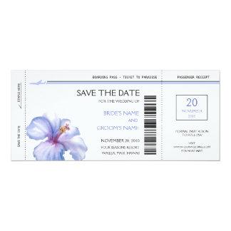 Tropische Boarding-Durchlauf-Save the Date 10,2 X 23,5 Cm Einladungskarte