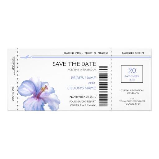 Tropische Boarding-Durchlauf-Save the Date Personalisierte Einladung