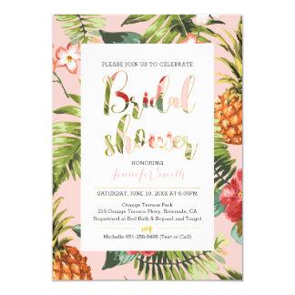 Tropische Brautparty-Einladung Karte