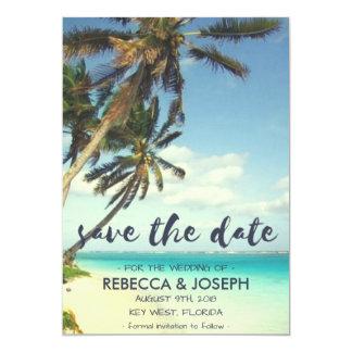 Tropische Brisen-Strand-Hochzeit retten die Daten 12,7 X 17,8 Cm Einladungskarte