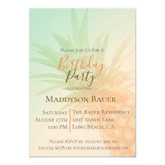 Tropische Chic-Ananas-Geburtstags-Party Einladung