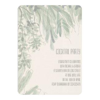 Tropische Cocktail-Party-Verlobungs-Einladung 12,7 X 17,8 Cm Einladungskarte