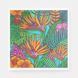 Tropische Edelstein-Papierservietten Serviette