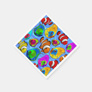 Tropische Fisch-Muster paper_napkins Papierservietten