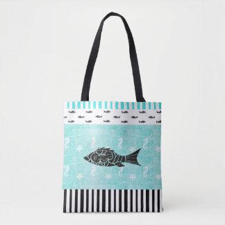 Tropische Fisch-und Seepferd-SeeTaschen-Tasche Tasche