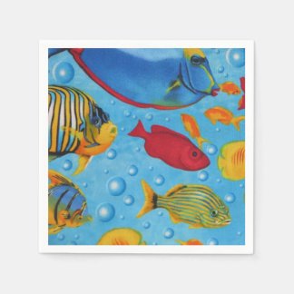 Tropische Fische 2 Papierservietten