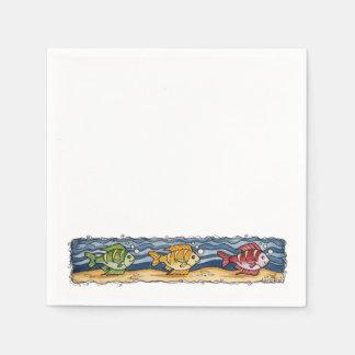 Tropische Fische - Papierservietten