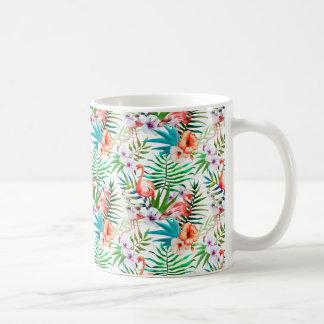 Tropische Flamingo-Tasse Tasse