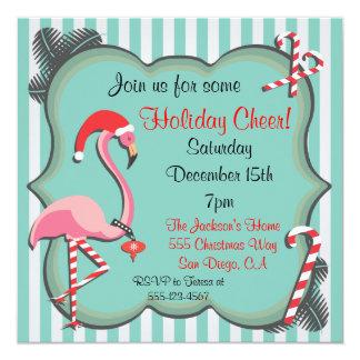 Tropische Flamingo-WeihnachtsParty Einladung