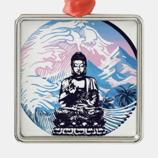 Tropische Gebirgswelle Buddhas Silbernes Ornament