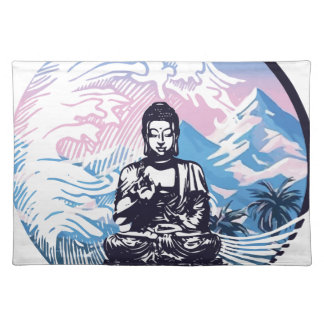 Tropische Gebirgswelle Buddhas Tischset