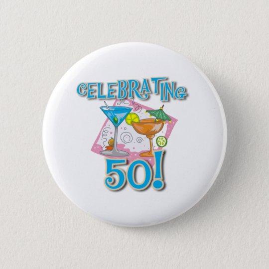 Tropische Getränke, die 50 feiern Runder Button 5,7 Cm