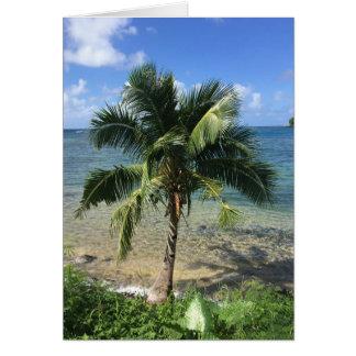 tropische Grußkarte