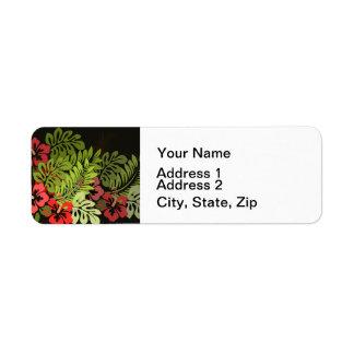 Tropische hawaiische schicke mit Blumenkunst
