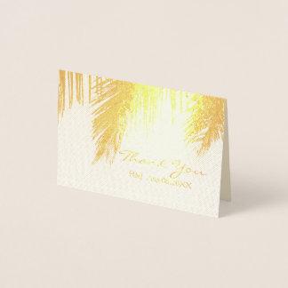 tropische Hochzeit in Urlaubsort der Palme danken Folienkarte