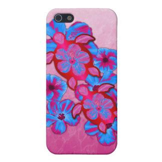 Tropische Honu Schildkröten und Hibiskus-Blumen iPhone 5 Etui