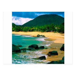 Tropische Insel die Ufer St Martin Postkarte