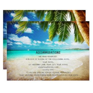 Tropische Insel-Strand-Hochzeits-Anpassungs-Karten 8,9 X 12,7 Cm Einladungskarte