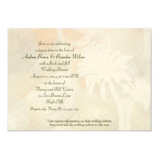 Tropische Klingel-Muschel-Polterabend-Einladung 12,7 X 17,8 Cm Einladungskarte