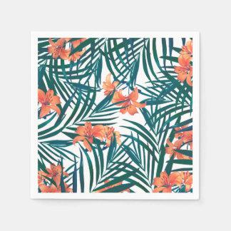 Tropische Lilien-Papiercocktail-Servietten Papierserviette