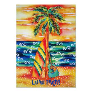 Tropische Luau Party Einladung