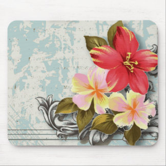 tropische mit Blumenhochzeit Vintagen Mousepad