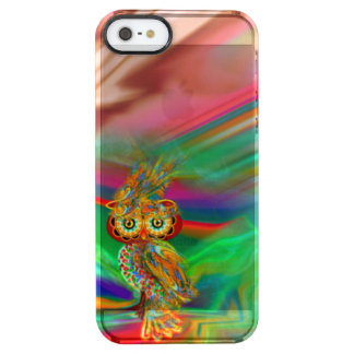 Tropische Mode-Königin-Eule Durchsichtige iPhone SE/5/5s Hülle