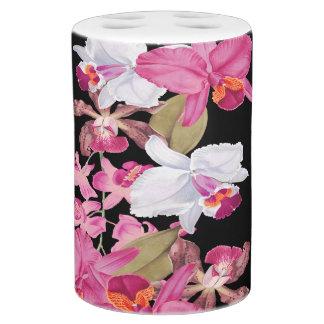 Tropische Orchideen BlumenBlumen Insel Bad Set Seifenspender U0026amp;  Zahnbu0026#252