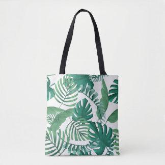 Tropische Palmblatt-Druck-Tasche Tasche
