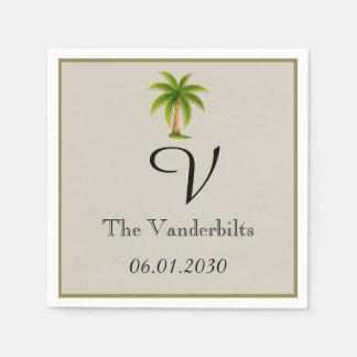Tropische Palme-Hochzeit Serviette
