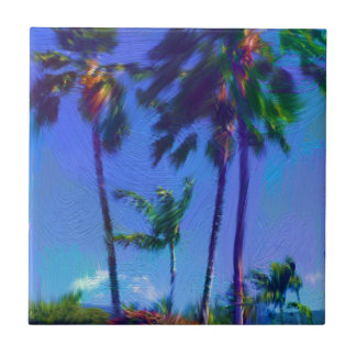 Tropische Palme-Keramik-Fliese Fliese