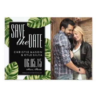 Tropische Palme-Strand-Hochzeit Save the Date 12,7 X 17,8 Cm Einladungskarte